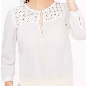 EUC 4 For $20.00 J. Crew embroidered gauze top